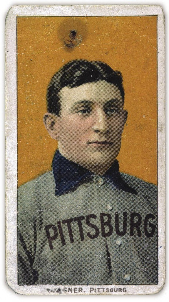 The T206 Honus Wagner baseball card. (Source)