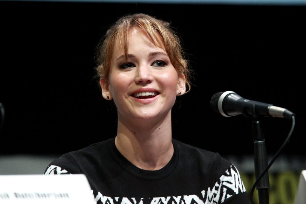 Jennifer Lawrence speaking at the 2013 San Diego Comic Con. (Source)