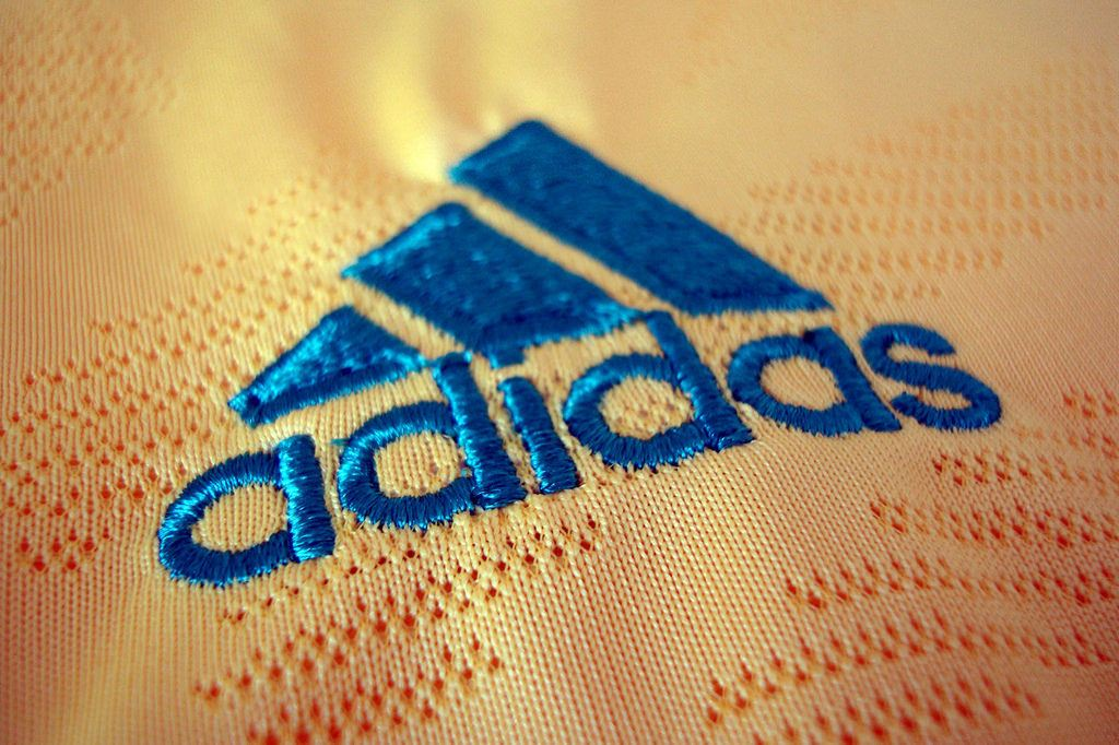 Adidas logo on shirt