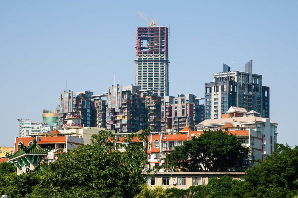 Tall buildings in China