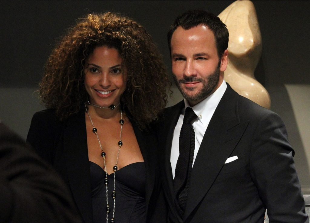 Plus-size model Tonya Pittman and Tom Ford pose at Spring/Summer 2011 New York Fashion Week Fashion's Night Out at Bergdorf Goodman. (Source)
