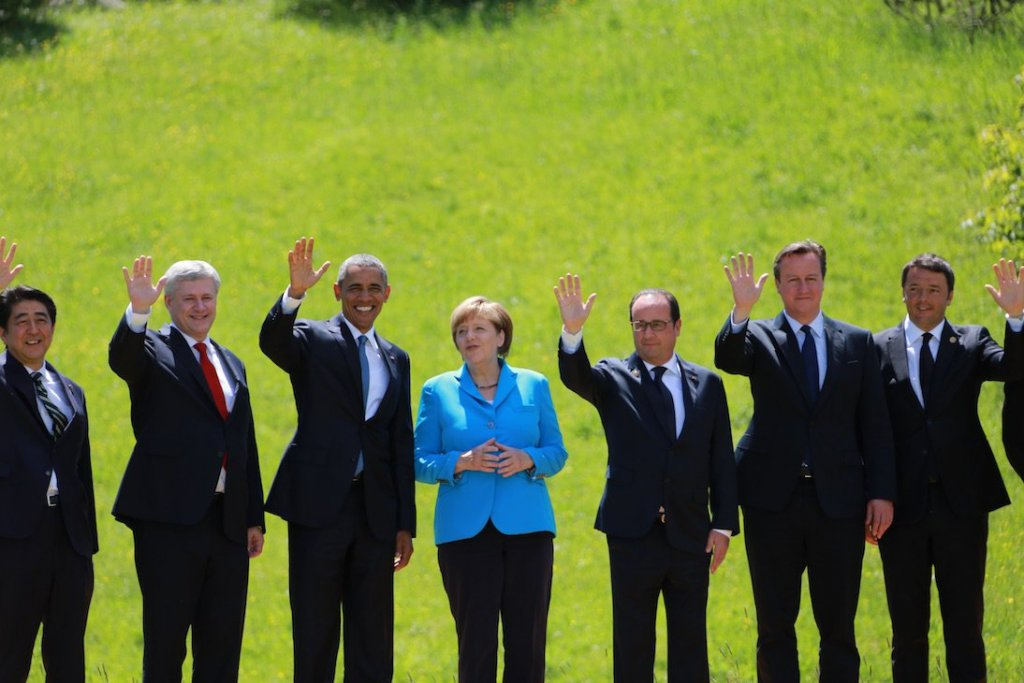 World Leaders at the G7 summit in 2015. (Source)