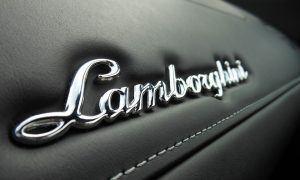 lamborghini logo on car