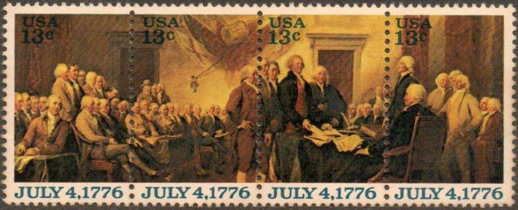 The Declaration Of Independence Stamp Source USPS