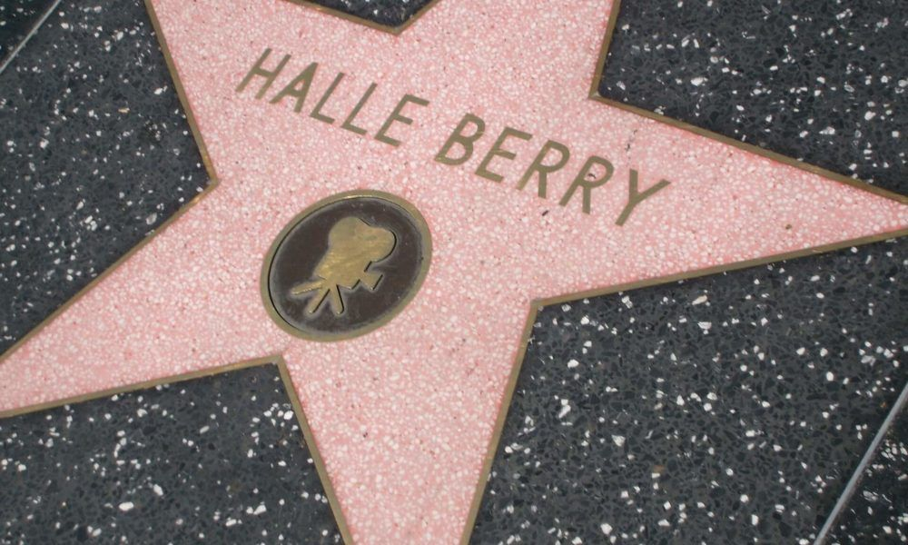 Halle Berry's star in the Hollywood Walk of Fame