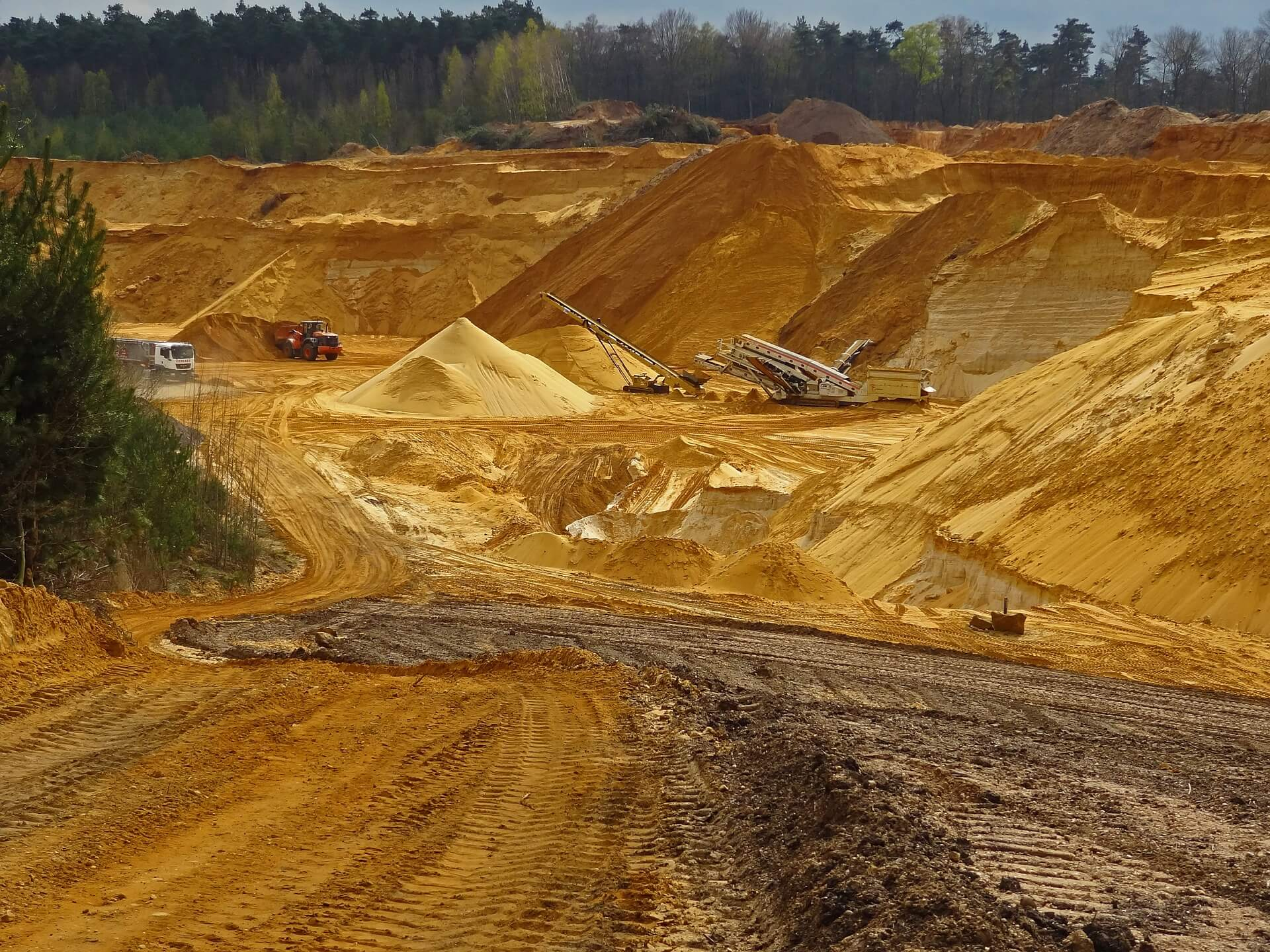 Open pit mining