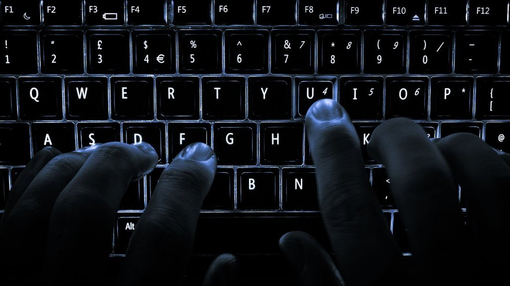 Typing on backlit keyboard