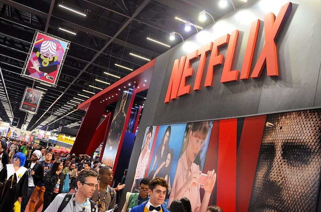 Netflix booth, Netflix earnings