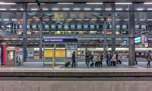 Berlin train station platform