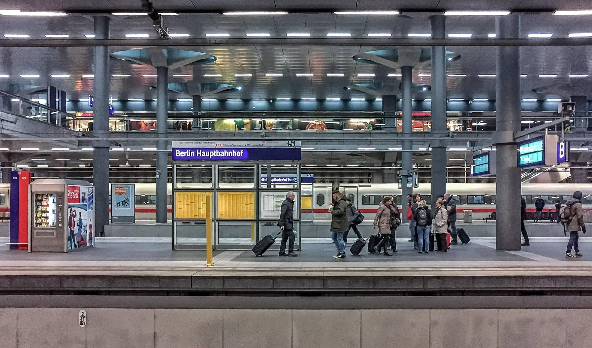 Berlin train station platform