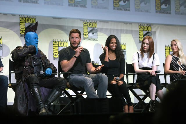 Chris Pratt and GotG2 cast