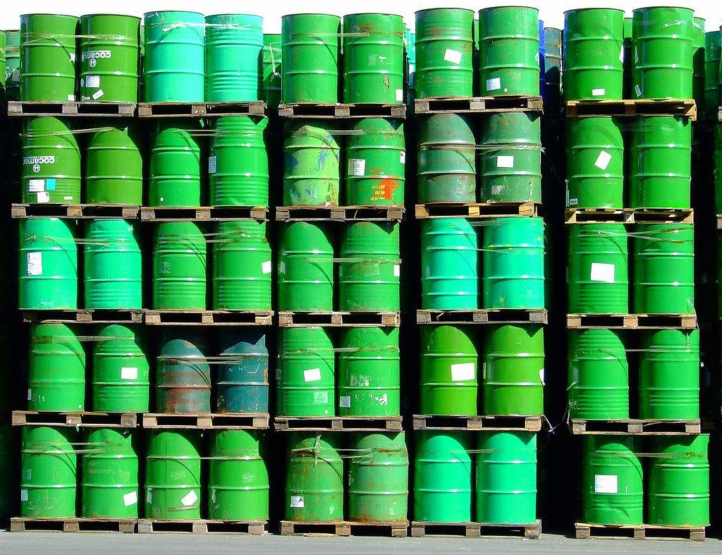 Oil barrels China's importance