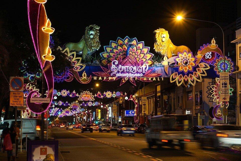 Festival lights.