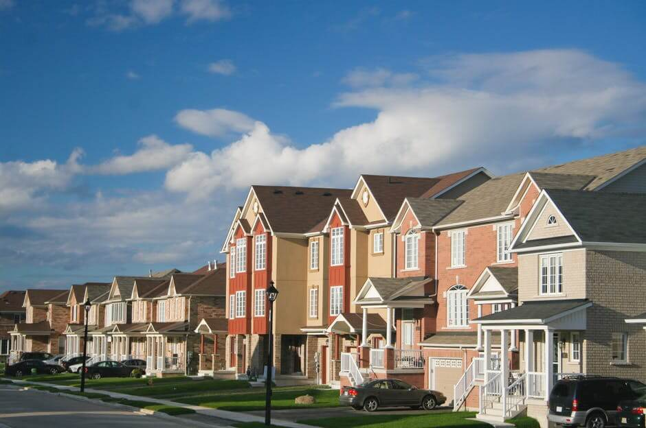 A block of houses.