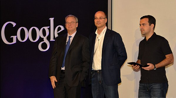 Andy Rubin with some colleagues at Google.