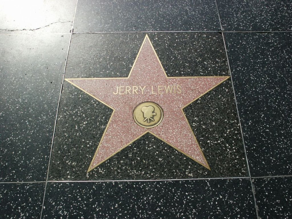 Jerry Lewis' star on Holywood's Walk of Fame