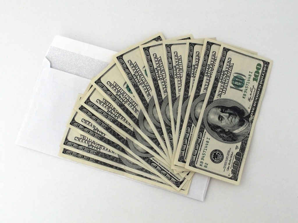Money with envelope