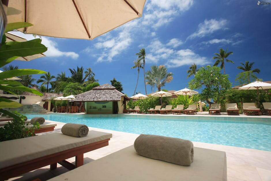 Luxurious resort.