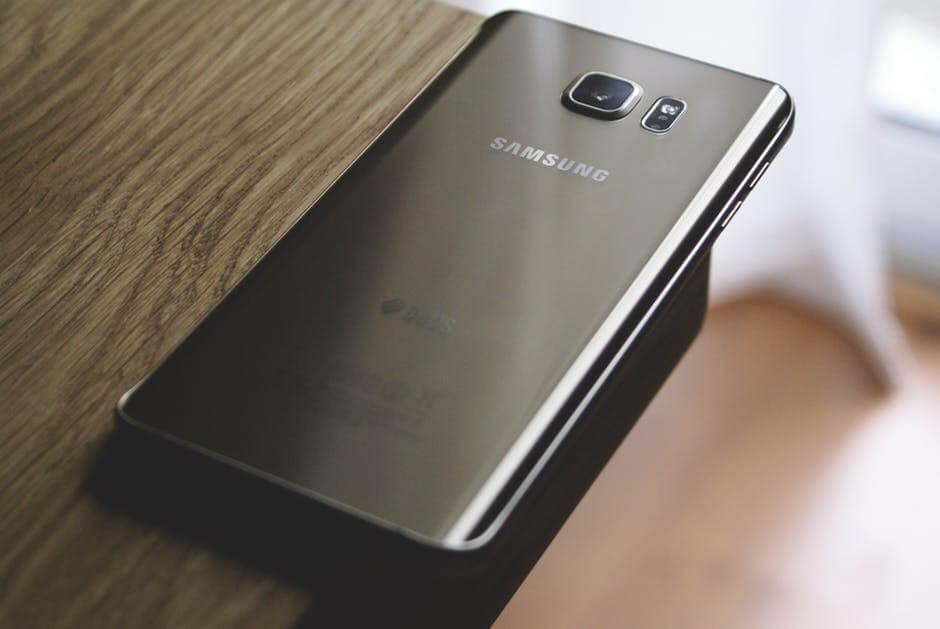 Samsung smartphone.