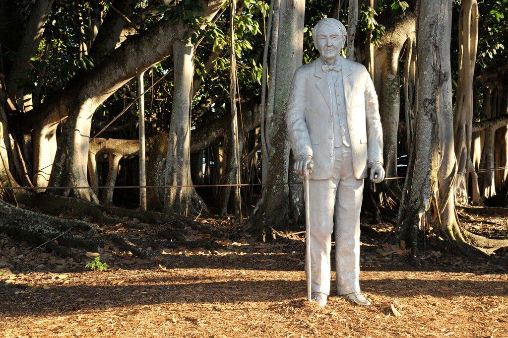 Statue of Thomas Edison, define success