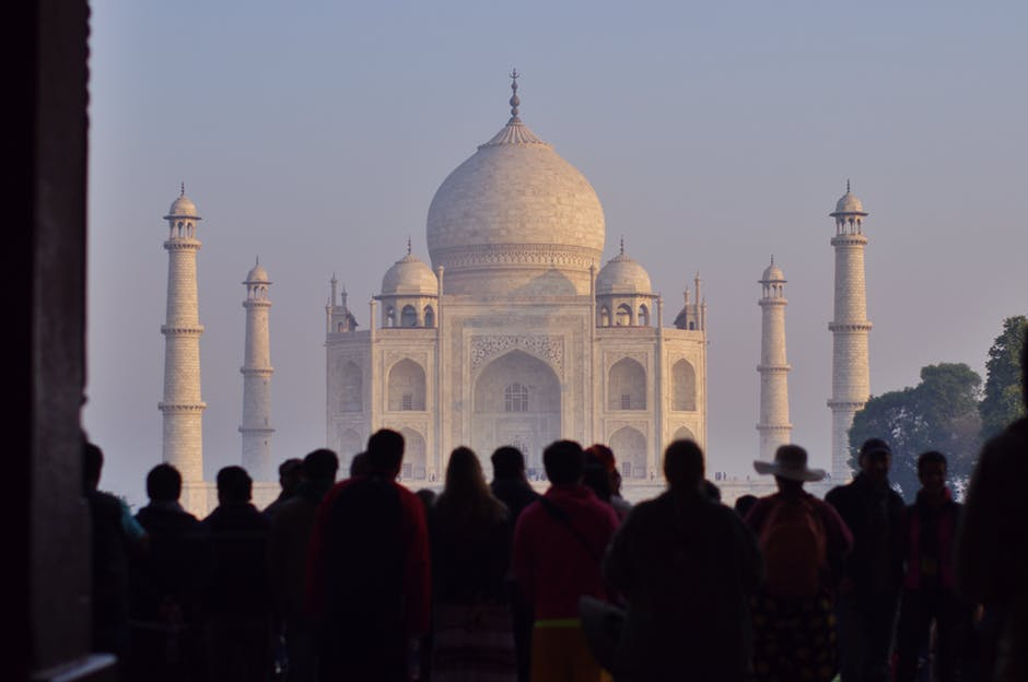 Indian economy Taj Mahal.
