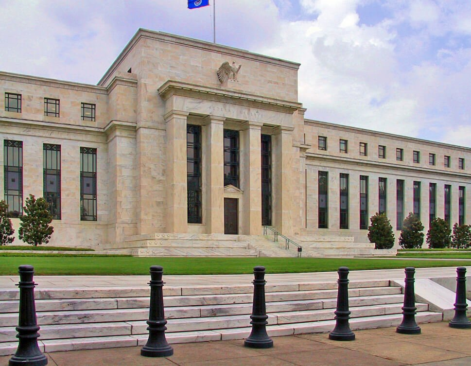 The Federal Reserve headquarters.