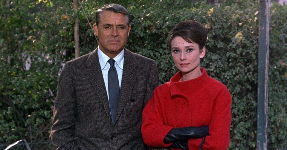 Audrey Hepburn and Cary Grant.