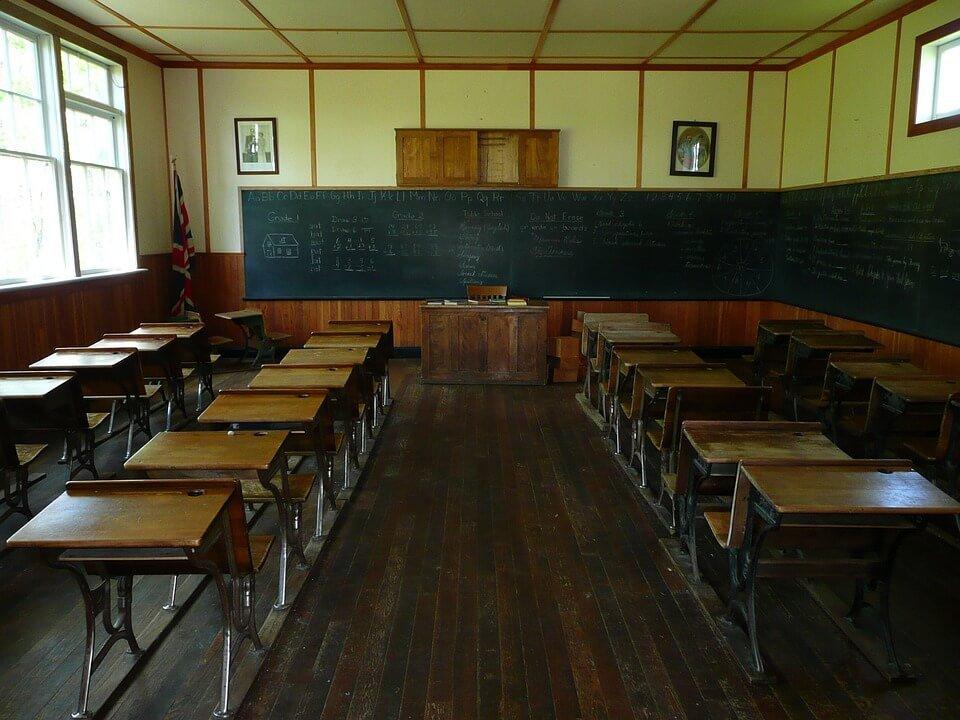 educational facilities: empty classroom