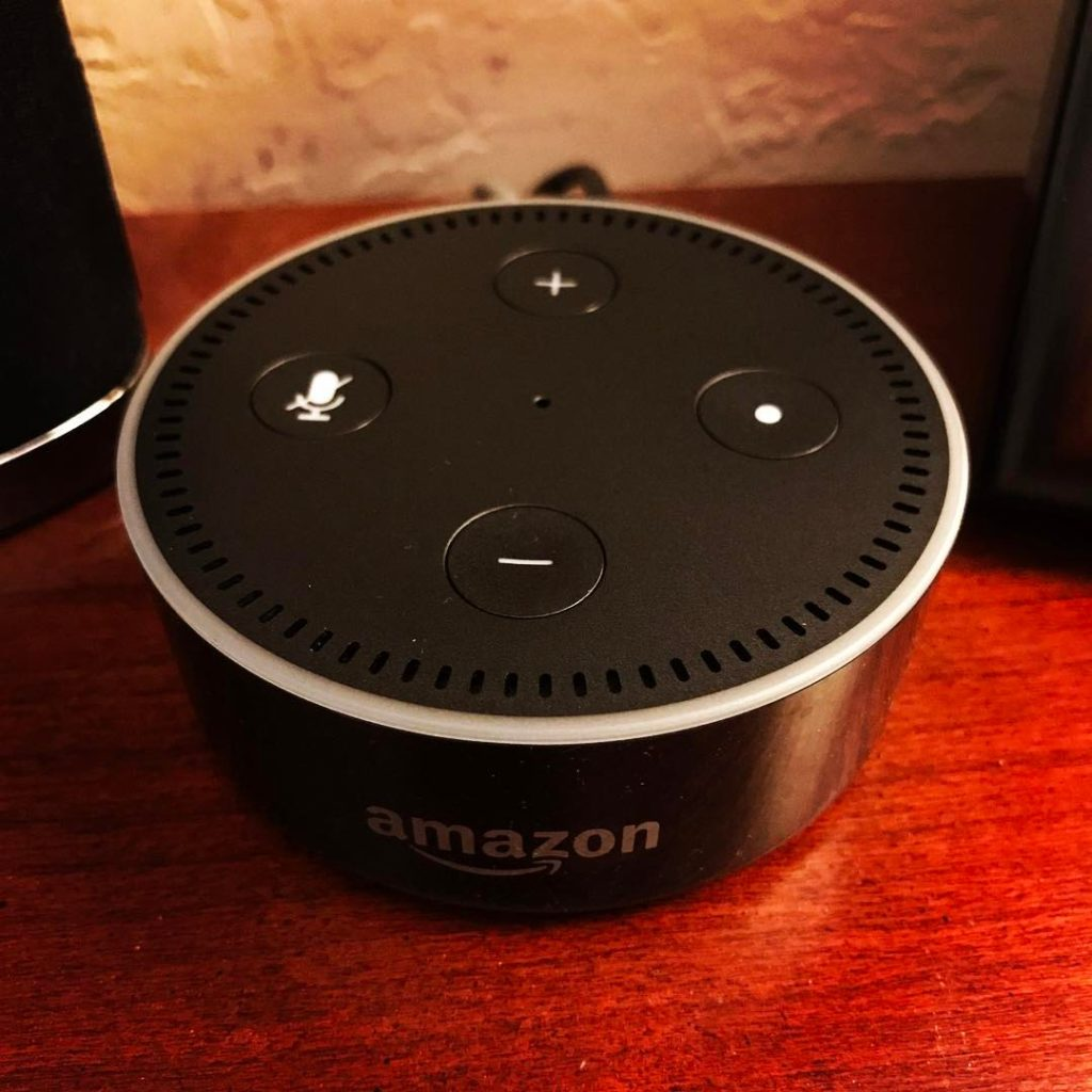 Amazon Echo Dot.