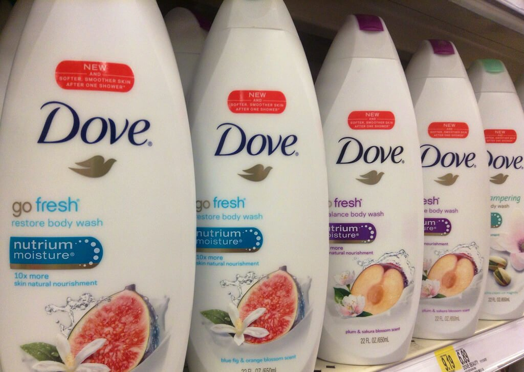 Dove ad for body wash