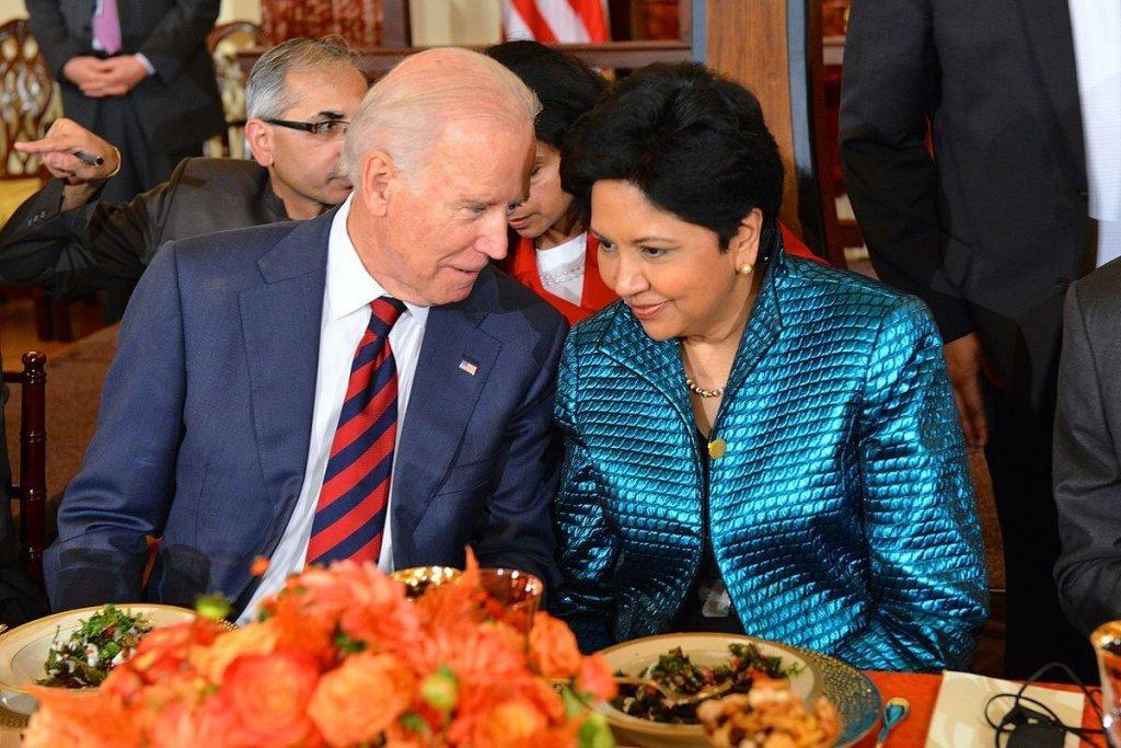 Indra Nooyi with ex vice-president Joe Biden.