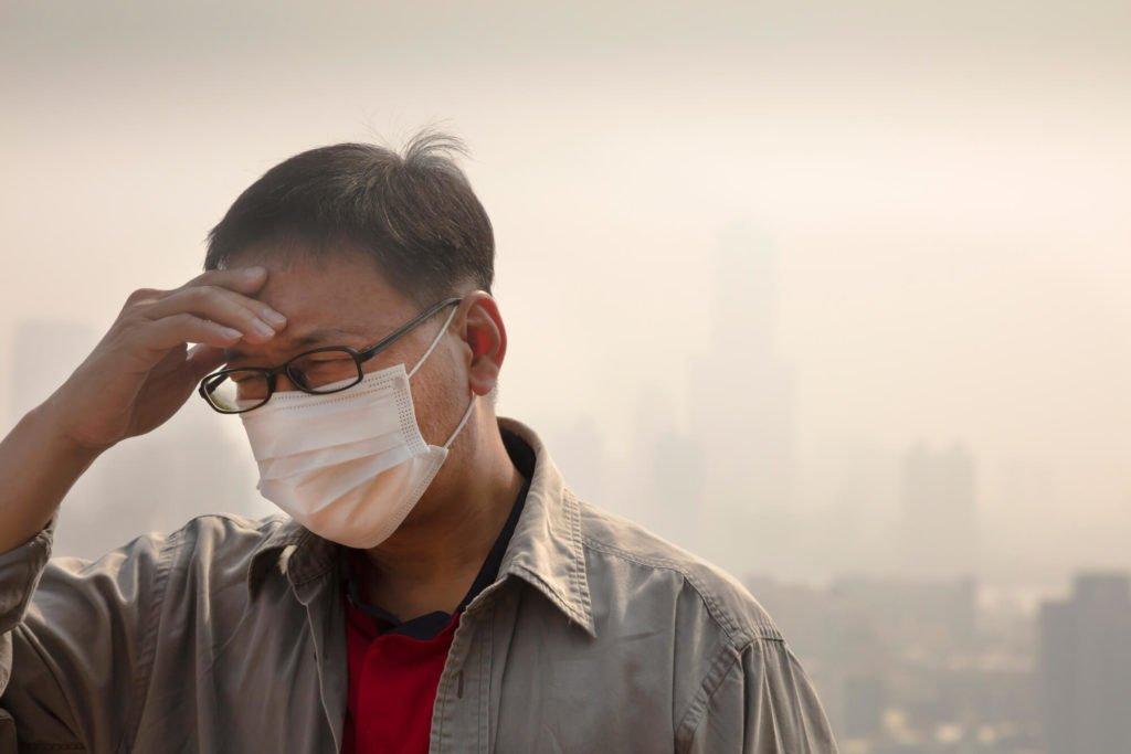 Man wearing face mask.