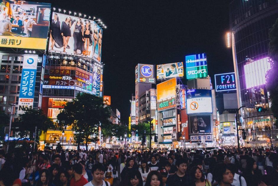 People crossing at Shibuya Japan.