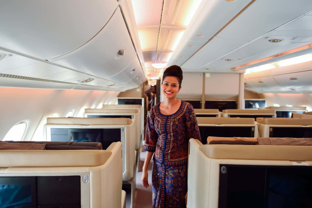 Flight attendant Singapore Airlines
