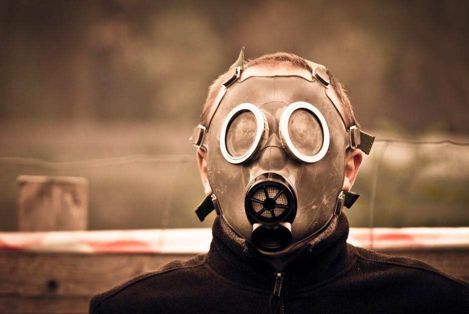 Smoke mask.
