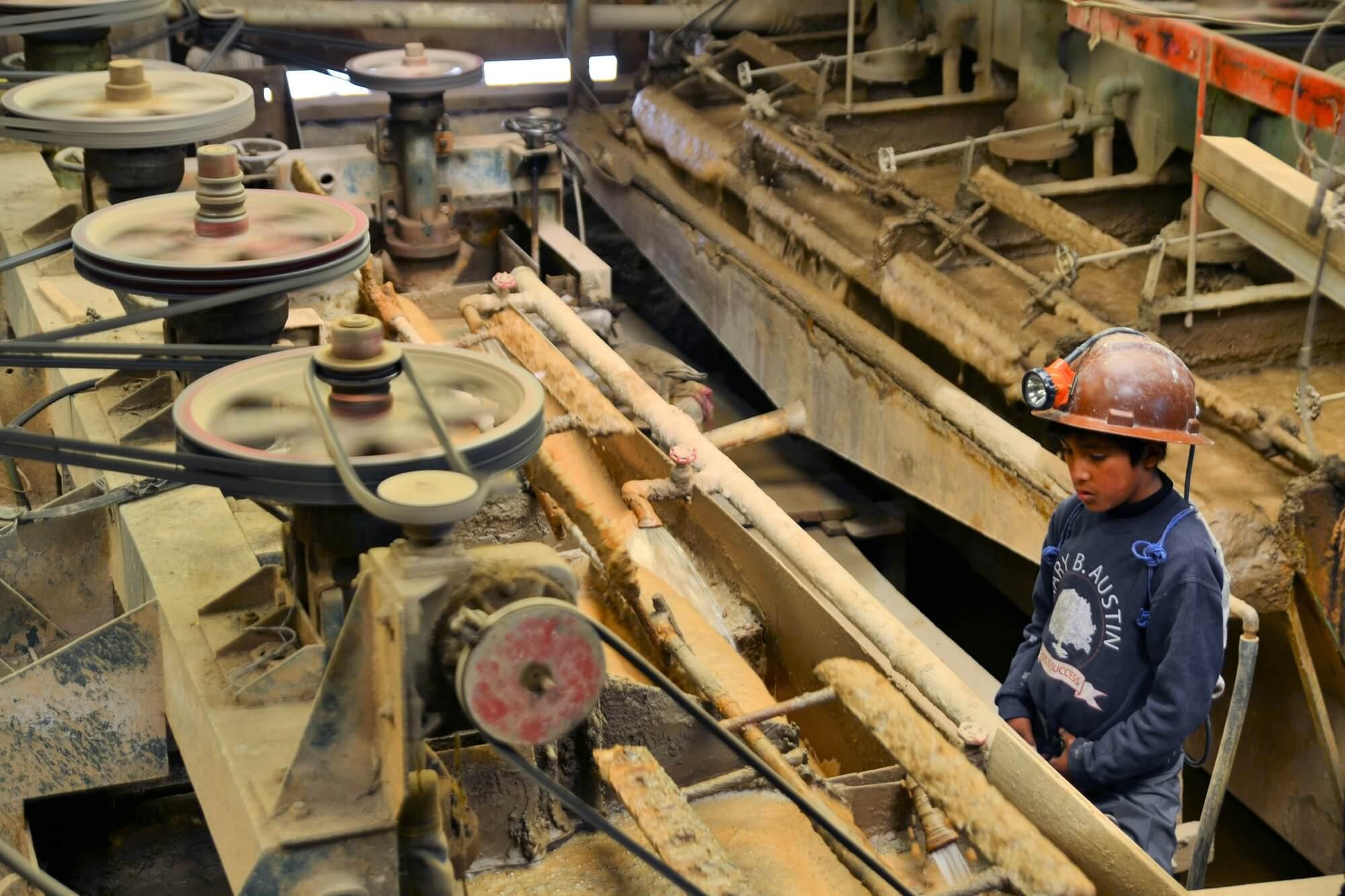 Precious metals processing factory.