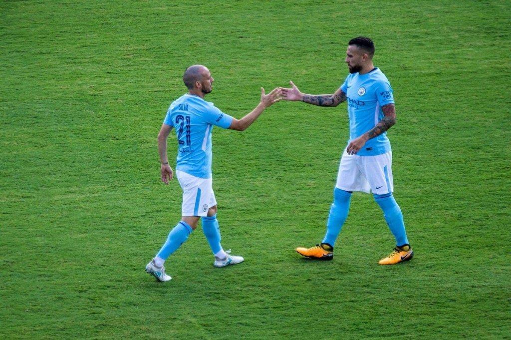 David Silva and Nicolas Otamendi.