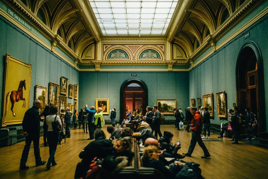 People at museum.