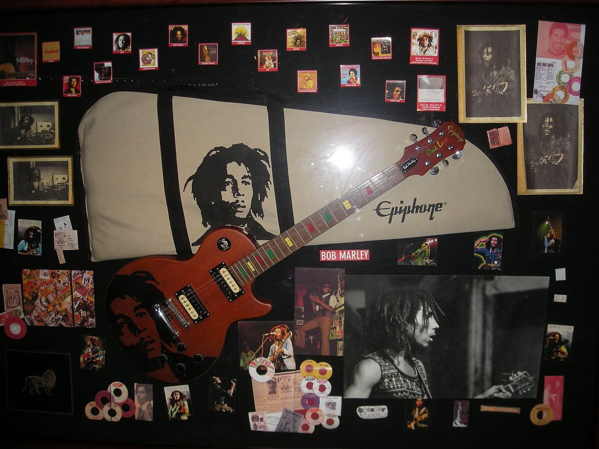 Bob Marley memorabilia.