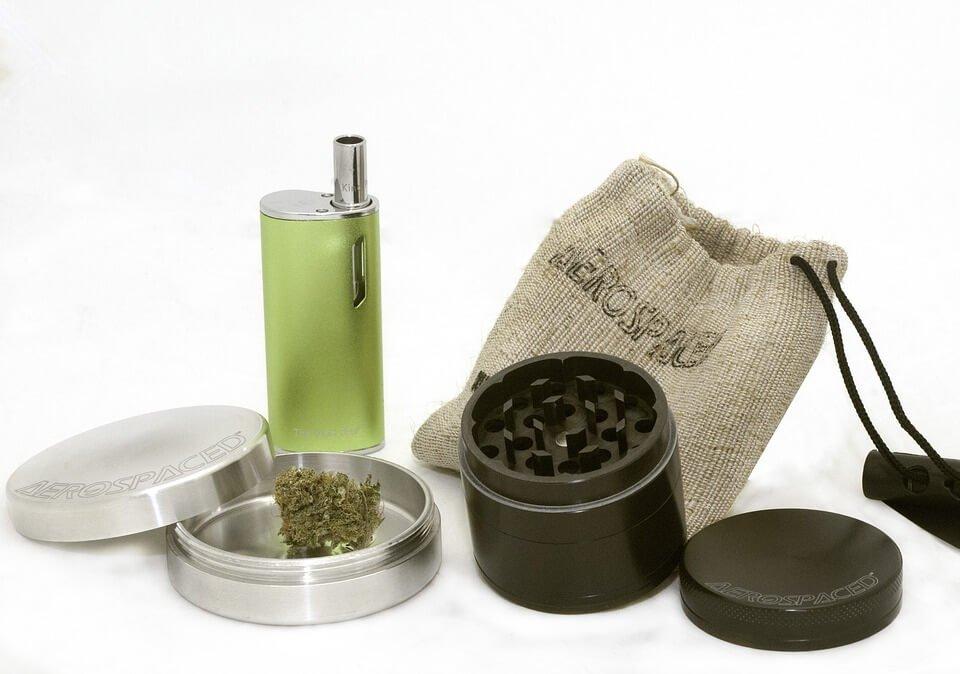 Marijuana merchandise.