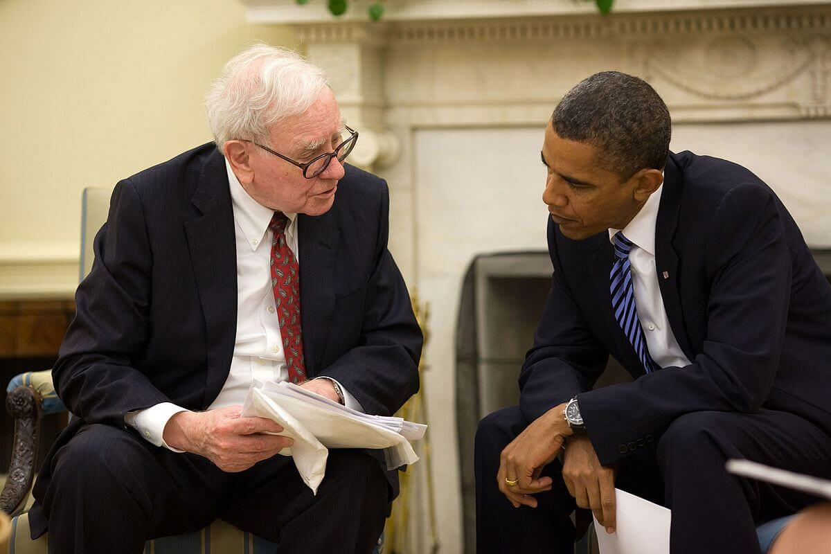 Warren Buffett with Barack Obama.