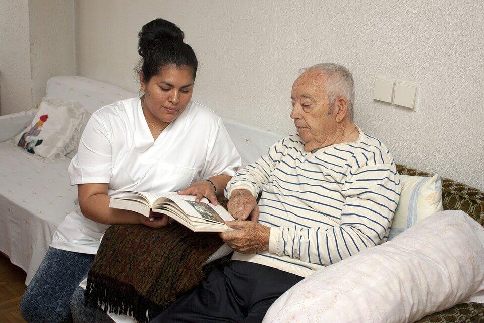 Elderly at nursing home.