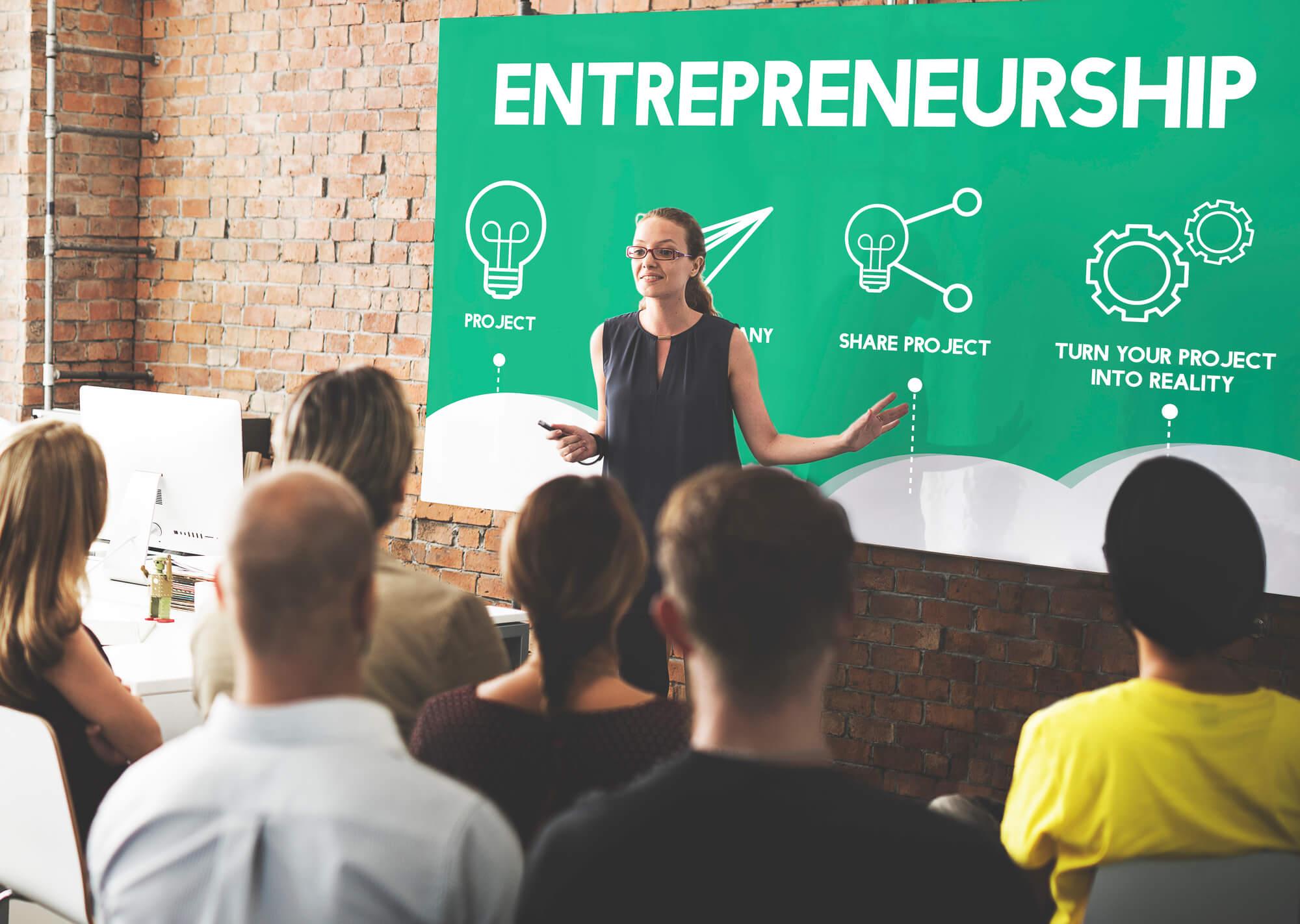 Entrepreneurship class.