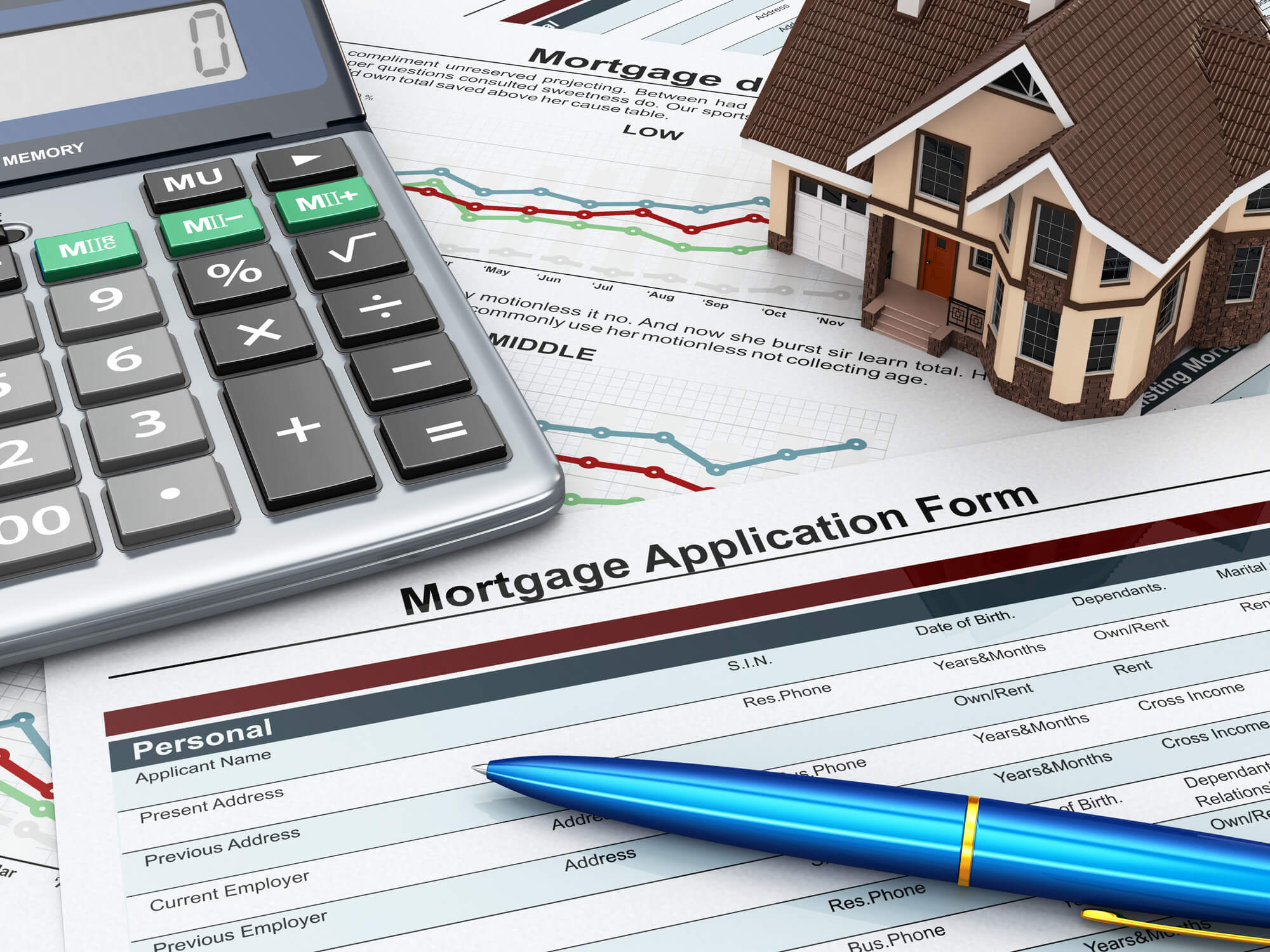 Mortgage application form.