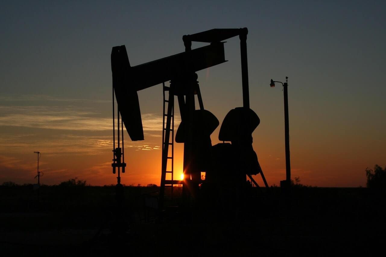 Crude oil pumpjack
