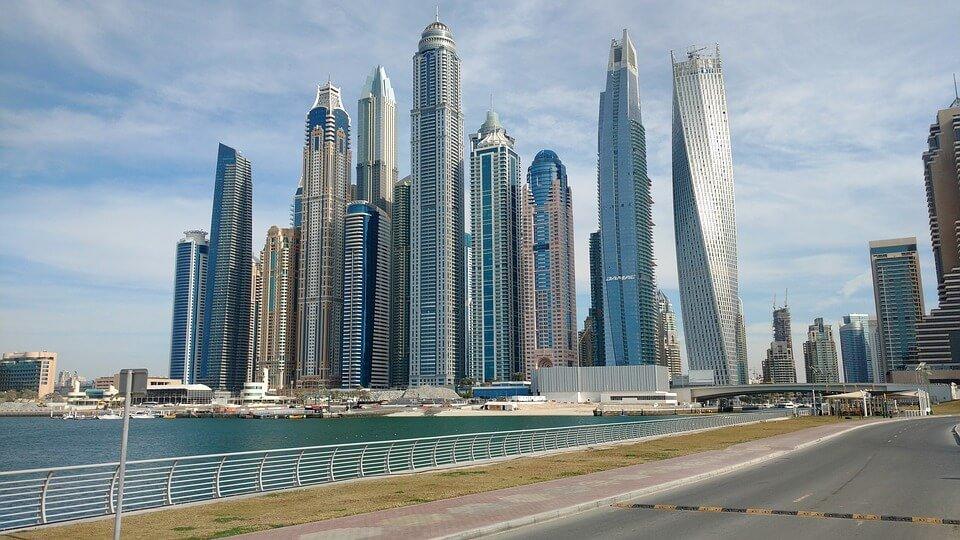Dubai skyscrapers.