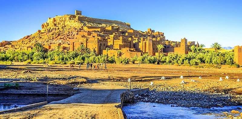 "A UNESCO's Heritage site, Ait Ben Haddou is also known as the ""Hollywood of Morocco"" because it houses the film industry. (Photo by Abdel Charaf via Wikimedia Commons. CC BY-SA 4.0)"