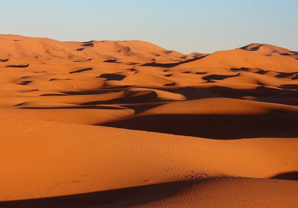 A Moroccan desert tour is never complete without seeing the dunes of Sahara desert.