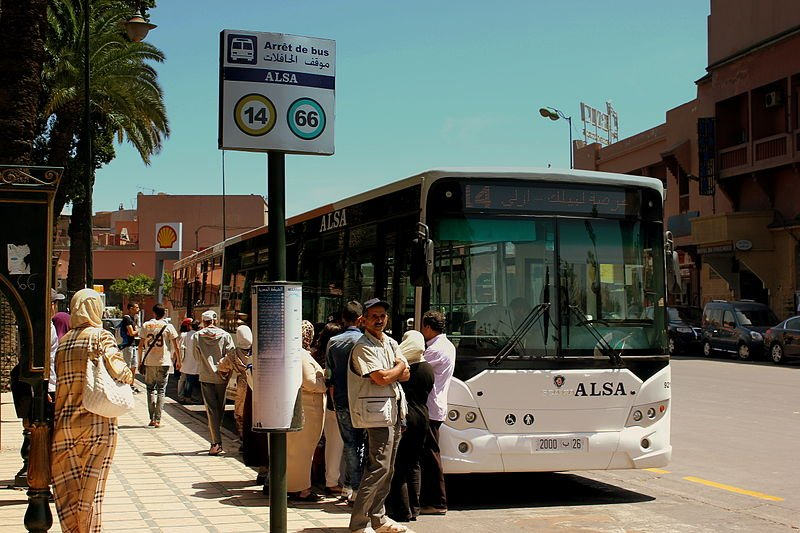 If you plan on going from one point to another, the most accessible ride that you can find in Morocco is via bus. The downside is, tickets have to be booked in advance due to the volume of travelers. (Photo by calflier001 via Wikimedia Commons. CC BY-SA 2.0)