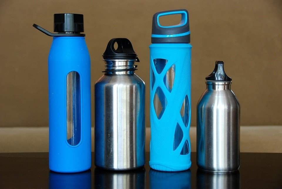Using reusable water bottles reduces massive waste in terms of plastic bottle disposal.